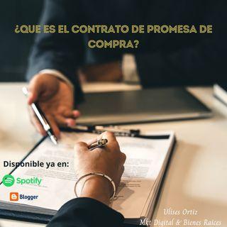 ¿Qué es el contrato de promesa de compra?