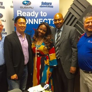 OPEN FOR BUSINESS: Doug Ireland with Freeland Painting & Construction, A.C. Chan with Power Slide, Sterling Porter with Sterling Porter CPA,