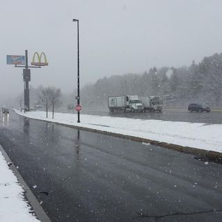 Drivers React To Snowfall In April