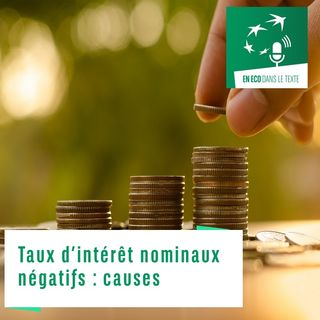#01 – Taux d'intérêt nominaux négatifs : causes