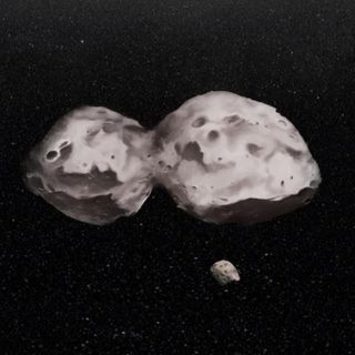 20E-32-A Peanut Shaped Asteroid with a Moon
