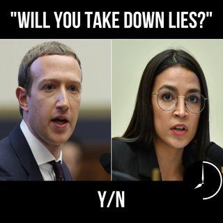 Alexandria Ocasio-Cortez, Mark Zuckerberg e il Ministero della Verità