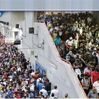 Vuelta a la normalidad CDMX, vuelta a las aglomeraciones en el Metro.
