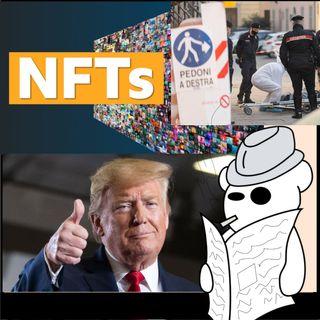 Trump, NFT e un'uomo morto in un tombino