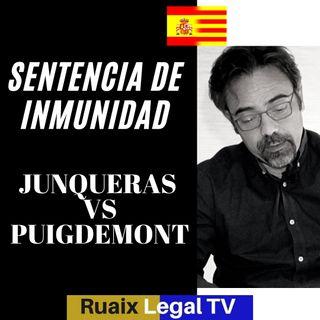 Inmunidad parlamentaria de Puigdemont y Junqueras | Inmunidad temporal | Sentencia Tribunal Europeo