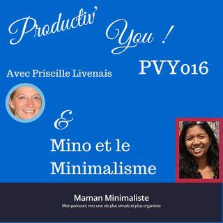 PVY EP016 MINO et LE MINIMALISME