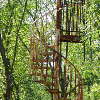 Episode 45 Stairs in the Woods and Krysta turns 12