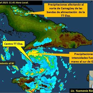 Información desde el departamento de pronósticos provincial sobre tormenta tropical Elsa