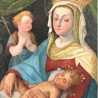 Parete è stata recuperata dal Belgio un'incisione di Maria SS della Rotonda