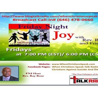 Friday Night Joy with Rev. Ray: Using the Right Weapon!  Anchored