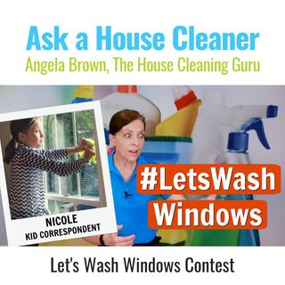 Lets Wash Windows with Nicole  (Shows Kids How to Clean)