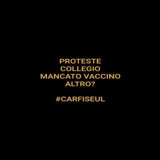 #carfiseul Proteste, collegio e un mancato vaccino: cosa manca?