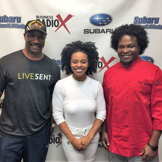 Melody Mills with Elevate Dance, Chef Jarvis Williams with Social Express Catering & Meal Prep, and Terry Gatewood with Physique Refinements