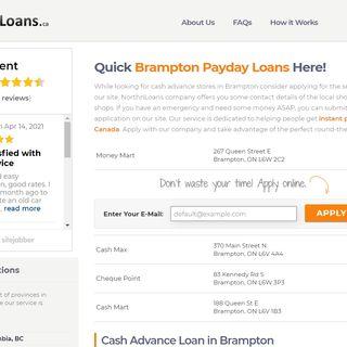 Loan In Advance In Brampton