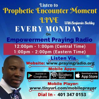 Prophetic Encounter Moment Monday 30th May 2016
