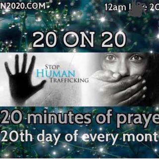 20 on 20 warm up prayer with Jacklyn Conrad July 19, 2018