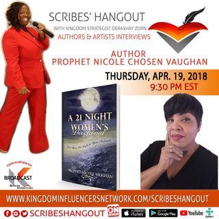 Scribes Hangout welcomes Prophet Nicole Vaughan