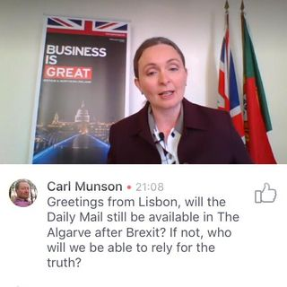 UK Amabassador to Portugal Kirsty Hayes on Dual Nationality & The Daily Mail after Brexit