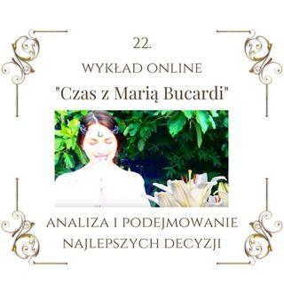 """Wykład """"Czas z Marią Bucardi"""" nr 22. Czas analizy i podsumowania. Wyszukaj co kryje się w Twojej podświadomości."""