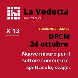 DPCM 24 Ottobre: nuove misure per il settore commercio, spettacolo, svago