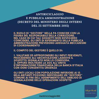 Antiriciclaggio e Pubblica Amministrazione