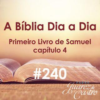 Curso Bíblico 240 - Primeiro Livro de Samuel 4 - vitória dos Filisteus, tomada da Arca, morte de Eli - Padre Juarez de Castro