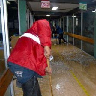 Continúan trabajando en zonas afectadas