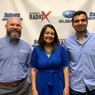 Bobby Hollingsworth with Express Employment Professionals and Homero Gonzalez & Maragarita Eberline with ULTIM Marketing