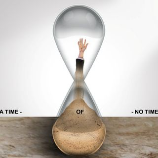 Were in a  time of no time message