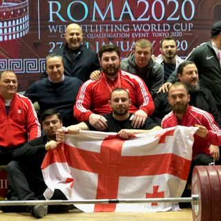 In the Warm-Up Room w/ Lasha, Toma, Pliesnoi, and More | Roma 2020 Weightlifting World Cup