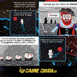 La primera vuelta al mundo según Darío Adanti (CARNE CRUDA #913)