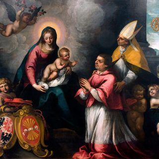 Martino Teofilo Polacco, San Vigilio presenta Bernardo Cles alla Madonna