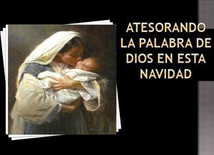 Atesorando la palabra de Dios en esta Navidad.  - Audio