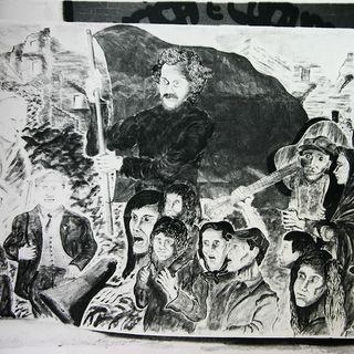 Il murales al Circolo Musica e Cultura di Cinisi