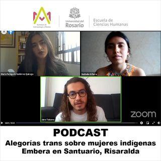 Alegorías trans sobre mujeres indígenas Embera en Santuario, Risaralda