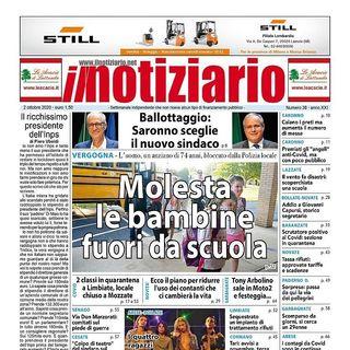 Prima pagina Il Notiziario - 2 ottobre 2020