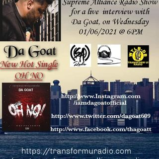 Supreme Alliance Radio Show interview with upcoming Hip Hop artist Da Goat