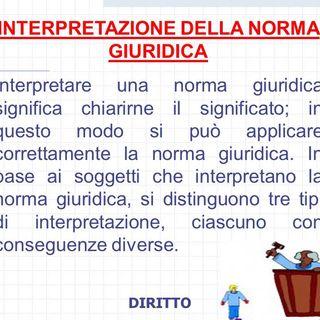 3. L'interpretazione delle fonti/norme giuridiche