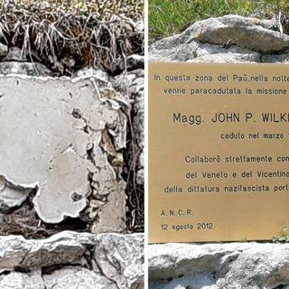 Bocchetta Paù, rubata la targa dedicata al maggiore Wilkinson: supportò i partigiani