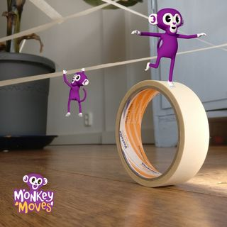 5 spellen om met je kind thuis te doen met een rol tape