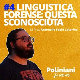 """#4 """"Linguistica forense: questa sconosciuta"""" di Antonello Fabio Caterino"""