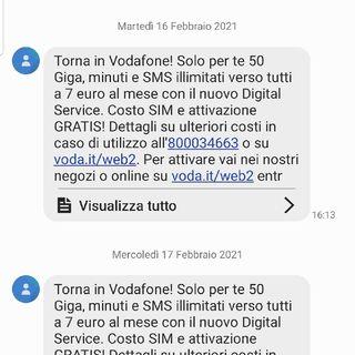 Episodio 57 - i messaggi dei geni della Vodafone per farmi tornare con loro