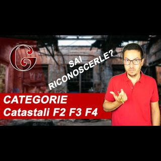 Come riconoscere le DIFFERENZE tra le CATEGORIE Catastali F2 F3 F4