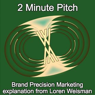 2 Minute Pitch - Loren Weisman Explaining Brand Precision Marketing.