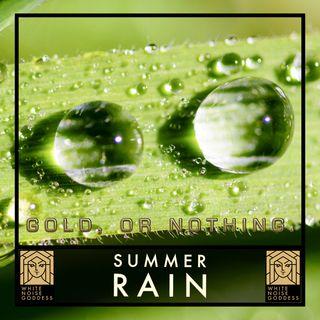 Summer Rain | White Noise | ASMR & Relaxation