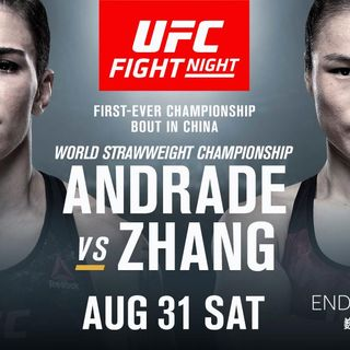 MMA Fight Picks #UFCShenzhen Andrade vs Zhang