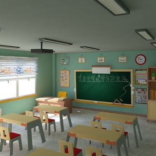 Lighting in a classroom