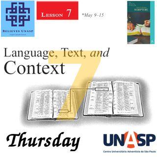 648-Sabbath School - 14.May Thursday