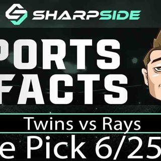 FREE MLB Betting Pick: Twins vs. Rays - June 25