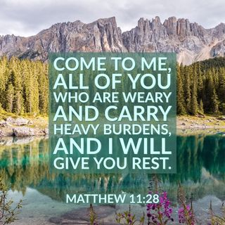 God's Offers you a Great Exchange Your Burdens for His Rest and Peace.